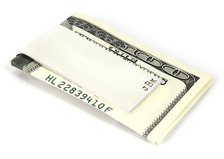 25th Anniversary Gifts - Silver Money Clip