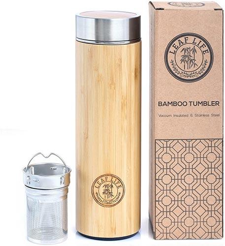 5 Year Anniversary Gifts - Bamboo Tea Tumbler