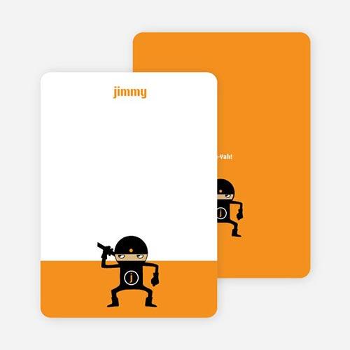 Ninja notecards for kids