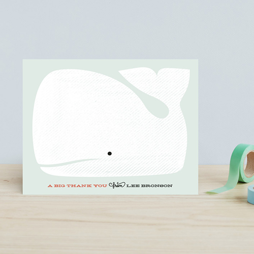 Whale thank you cards