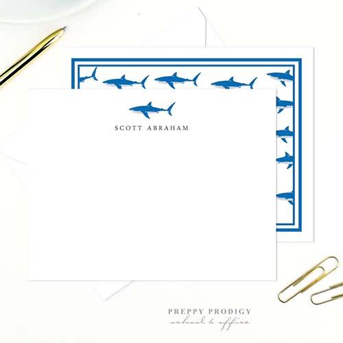 Sharks stationery set for boys