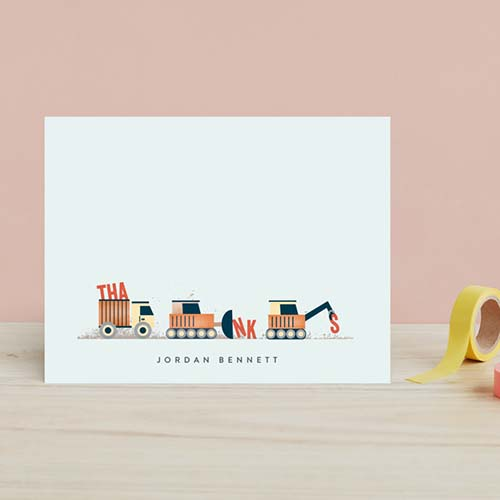 Construction site stationery for little builders