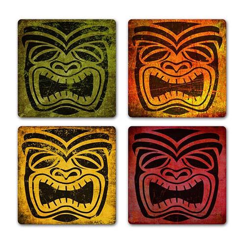 Tiki culture coasters