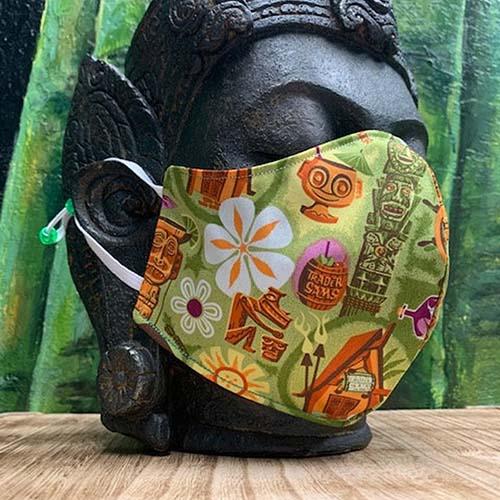 Polynesian design fabric mask